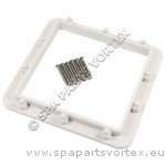 Backing Plate For Square Spa Skimmer White with screws