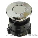 Air Button - low profile chrome (for long distance)