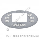 Overlay for SP800 Oval Touch Panel