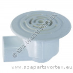 Large Face Low Profile Drain White 0.5inch